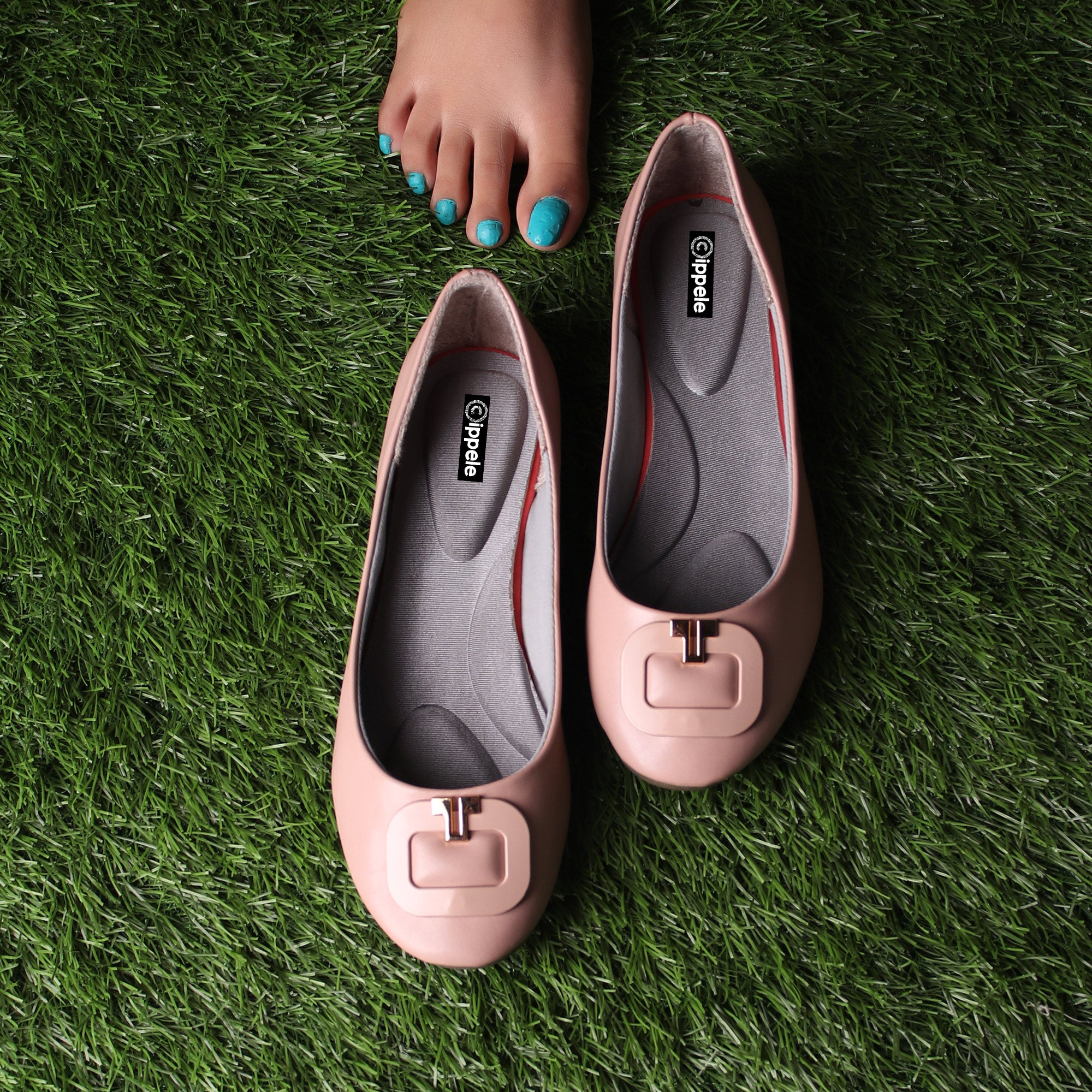 Foot Wear,Golden U Flats in Pink - Cippele Multi Store
