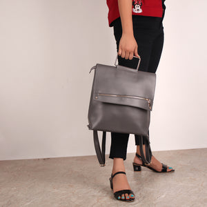 Backpack,The Mixed Gun Metal Bag - Cippele Multi Store