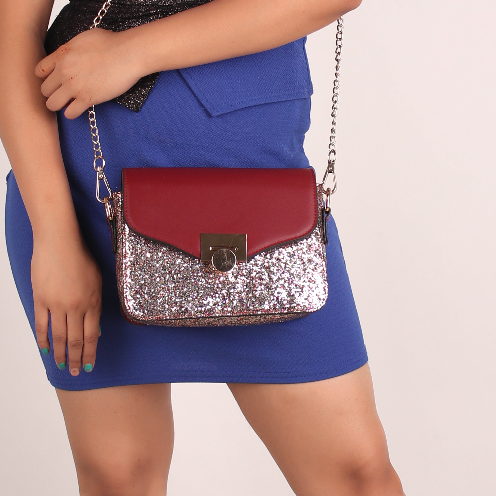 Sling Bag,The Lustrous Glossy Sling Bag - Cippele Multi Store