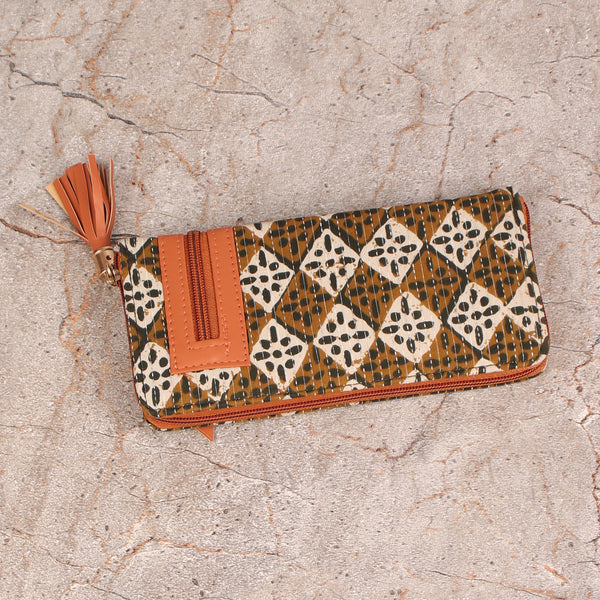 Wallet,The Footprinted Tassel Wallet - Cippele Multi Store
