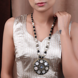 Necklace,The Shield Necklace in White - Cippele Multi Store