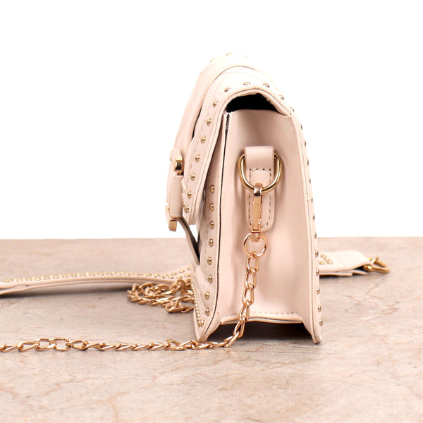 The Pearly Gleamy Sling Bag in Off White