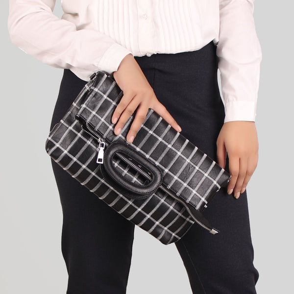 Sling Bag,The seamless Classical checkered Mix Bag in Black - Cippele Multi Store