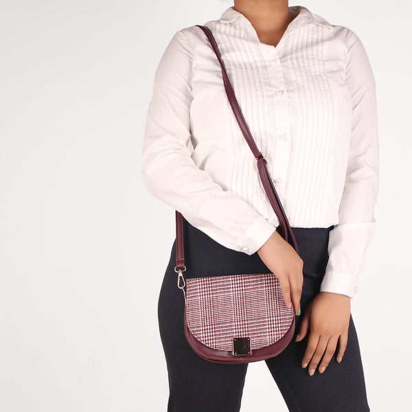 Sling Bag,The Crunchy Checkered Sling Bag - Cippele Multi Store