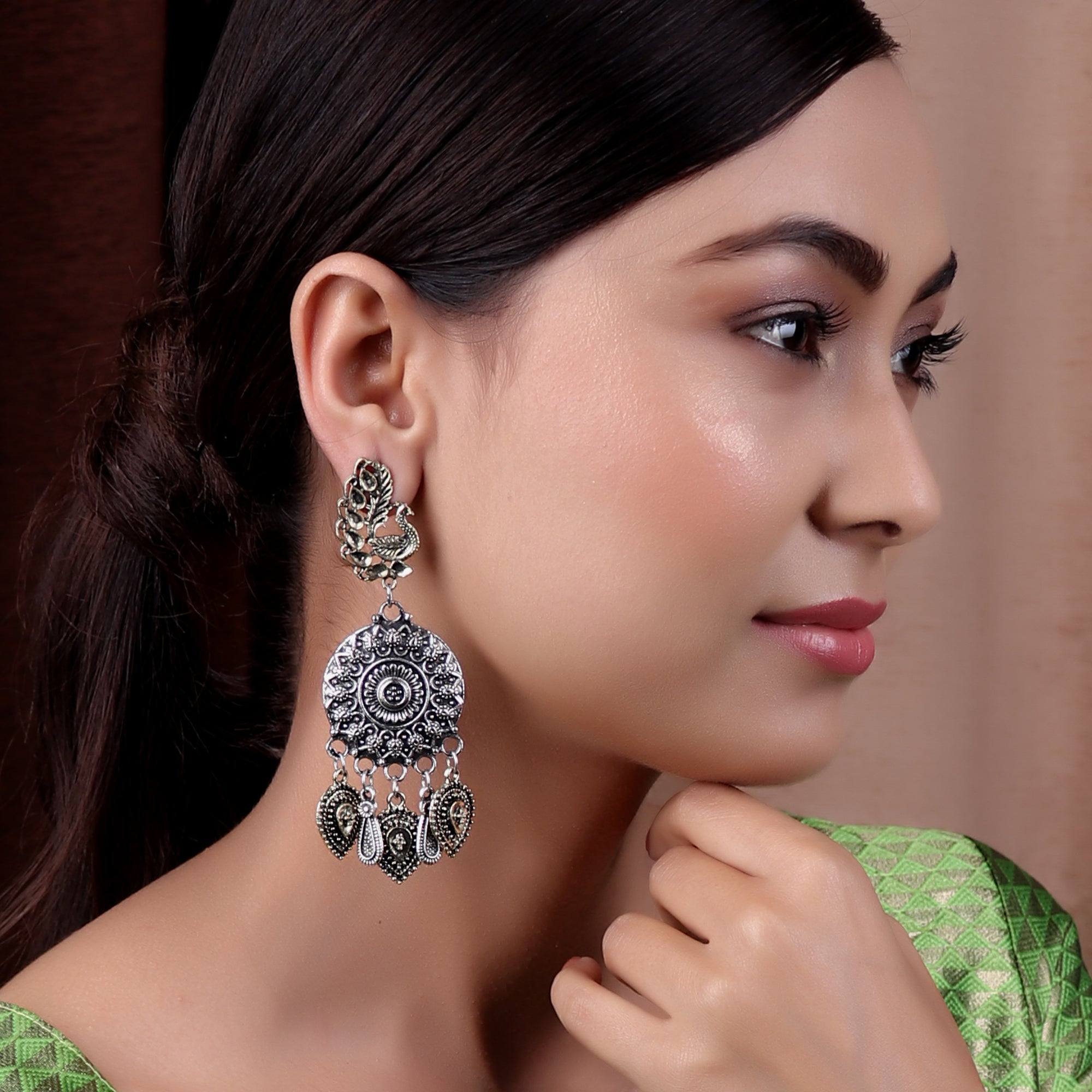Earrings,The Royal Swan Earring in Dual Tone - Cippele Multi Store