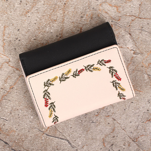 Wallet,The Dark Colorful Flower Bunch Wallet - Cippele Multi Store