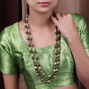 Necklace,A Gold tone Dholki Beaded Necklace - Cippele Multi Store