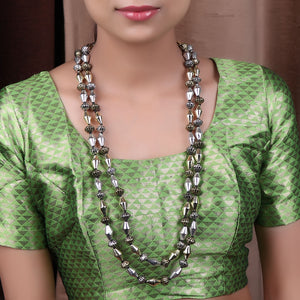 Necklace,A Dual tone Dholki Beaded Necklace - Cippele Multi Store
