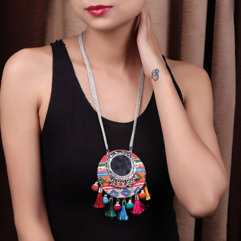 Necklace,Cute Colorful Thread Necklace - Cippele Multi Store