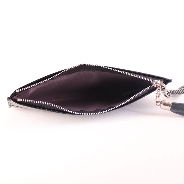 Wallet,The Squared Honeycomb Tassel Black Wallet - Cippele Multi Store