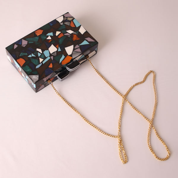 Clutch,The Colorful Collage Clutch - Cippele Multi Store