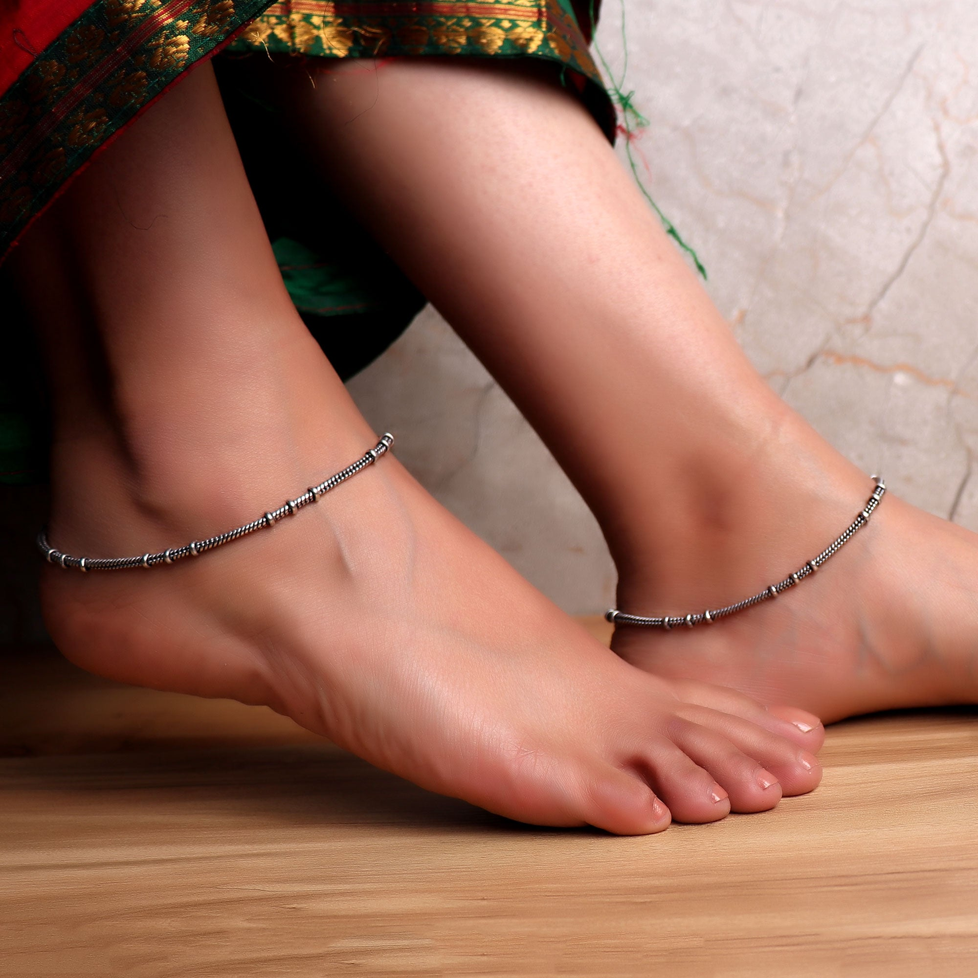 Anklet,The Ridged Anklet (Pair of 2) - Cippele Multi Store