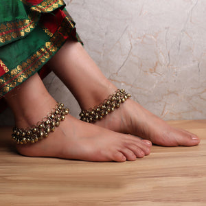 Anklet,The Lace with Grace Payal (Pair of 2) - Cippele Multi Store