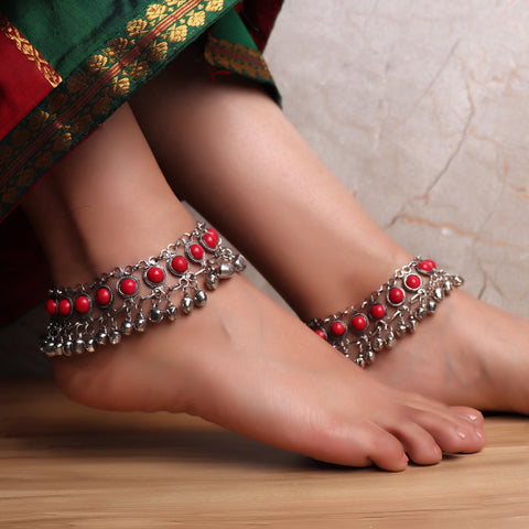 The Festivity Anklet in Red (Pair of 2)