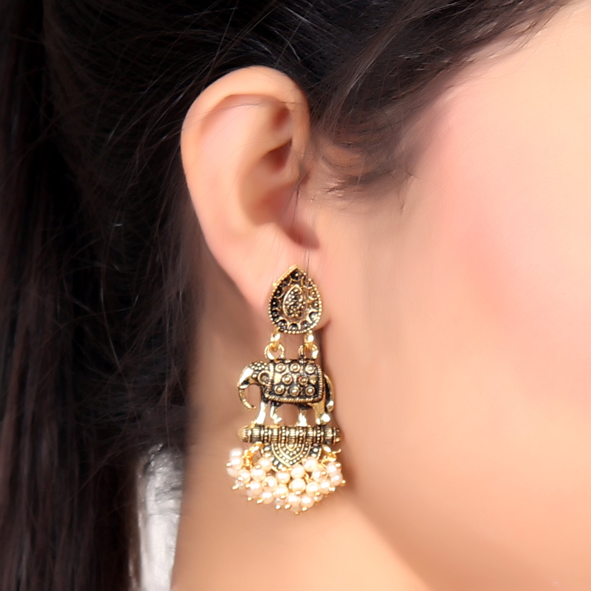 Earrings,Elephanta Earrings - Cippele Multi Store