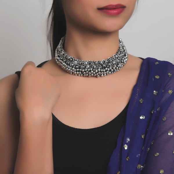 Necklace,The Vivid Metal Choker - Cippele Multi Store