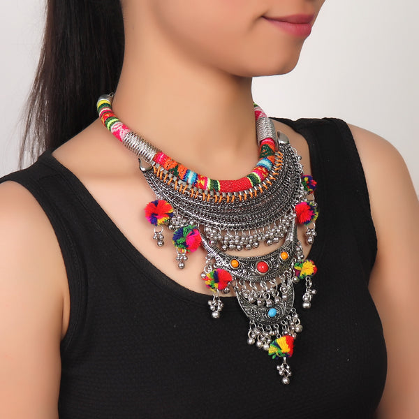 Necklace,Boho Statement Necklace - Cippele Multi Store