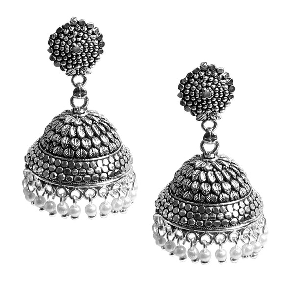Earrings,Oxidized Jhumkas - Cippele Multi Store
