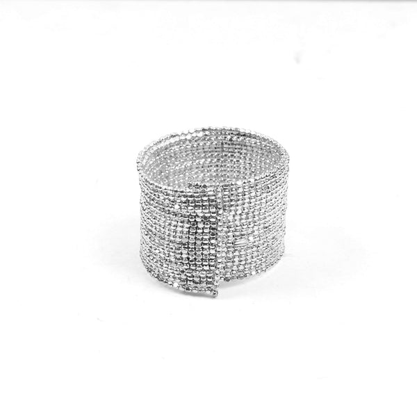 Hand Cuff,Silver Beaded Bangle Set - Cippele Multi Store