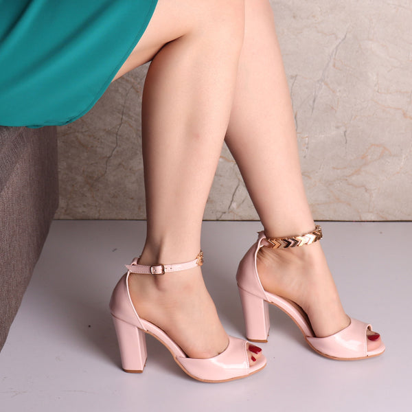 Foot Wear,The Aesthetic Pink Block Heel - Cippele Multi Store