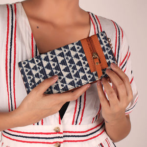 Wallet,The Triangle Ridges Tassel Wallet - Cippele Multi Store
