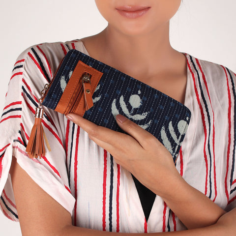 Wallet,The Poppy Blue Tassel Wallet - Cippele Multi Store