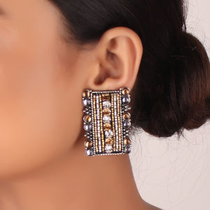 Earrings,The Wonka Dazzles Candy Earring in Cream - Cippele Multi Store