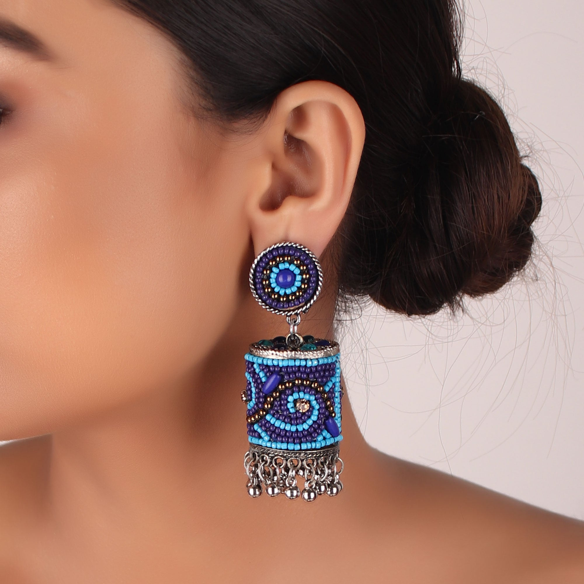 The Sea Bed Earrings in Blue