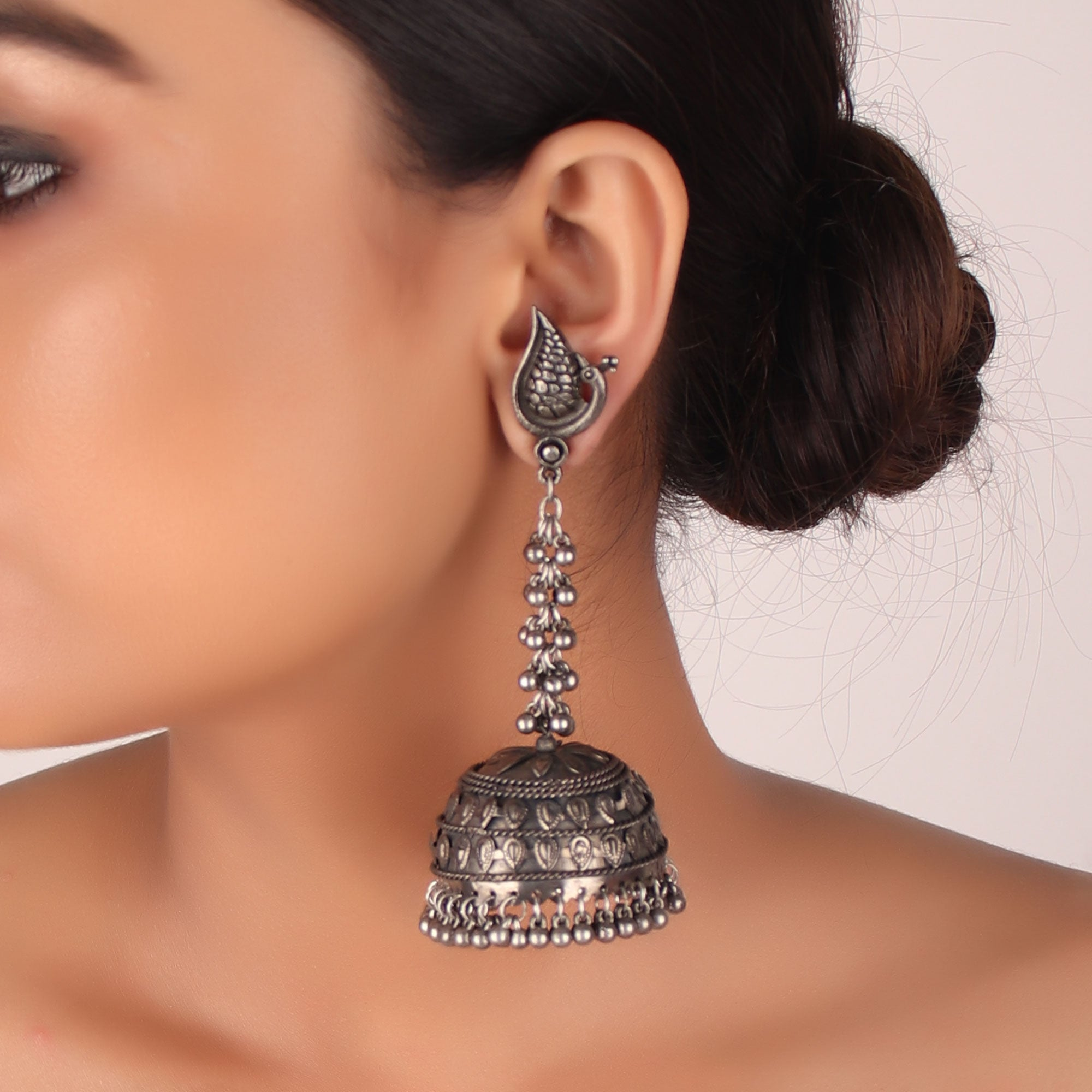 Earrings,The Peacock cock Bell Earring - Cippele Multi Store