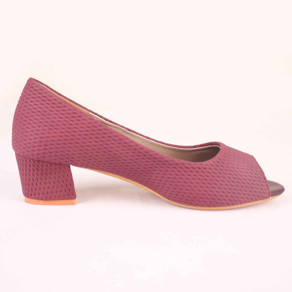 Foot Wear,The Shoemance Wine Block Heels - Cippele Multi Store