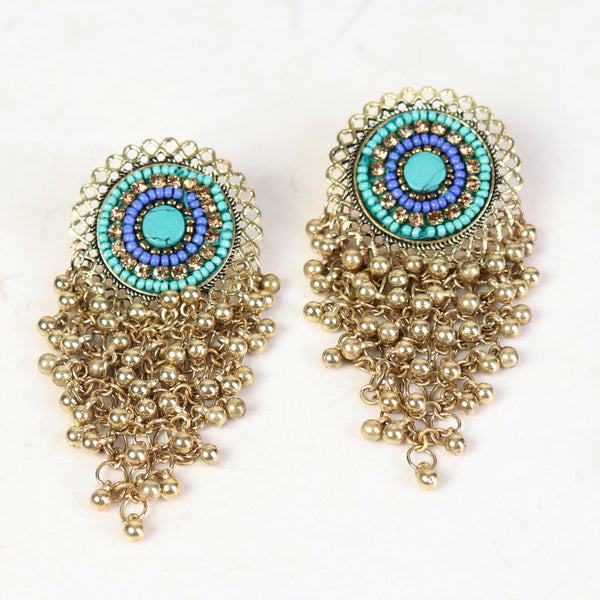 Earrings,Bunch of Happiness Earrings in Golden hue - Cippele Multi Store