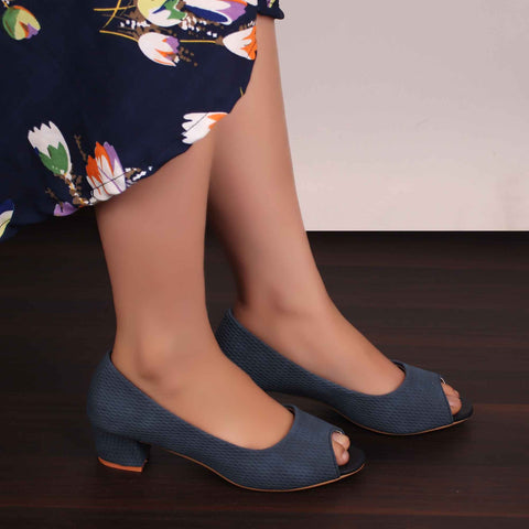 Foot Wear,The Shoemance Blue Block Heels - Cippele Multi Store
