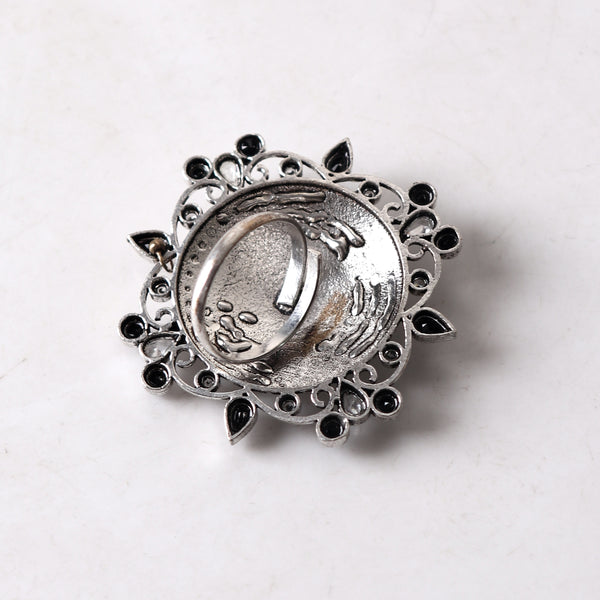 Ring,Flowers of nature German Silver Ring in Black - Cippele Multi Store