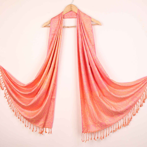 Stole,The Sultani Art Reversible Stole in Pink - Cippele Multi Store