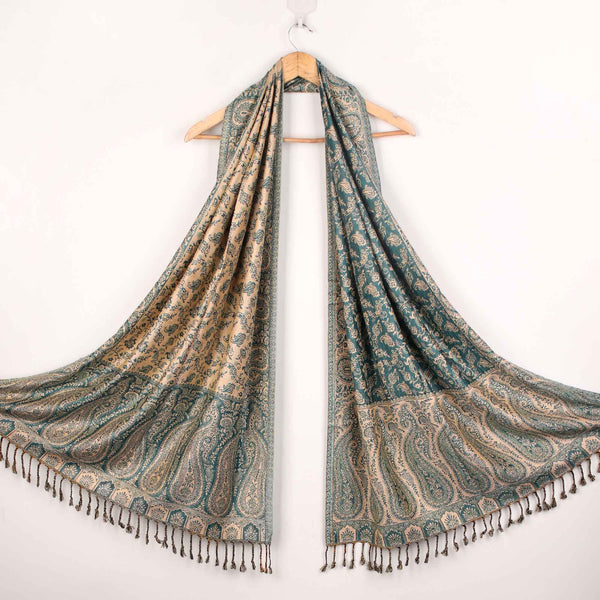 Stole,The Sultani Art Reversible Stole in Green - Cippele Multi Store
