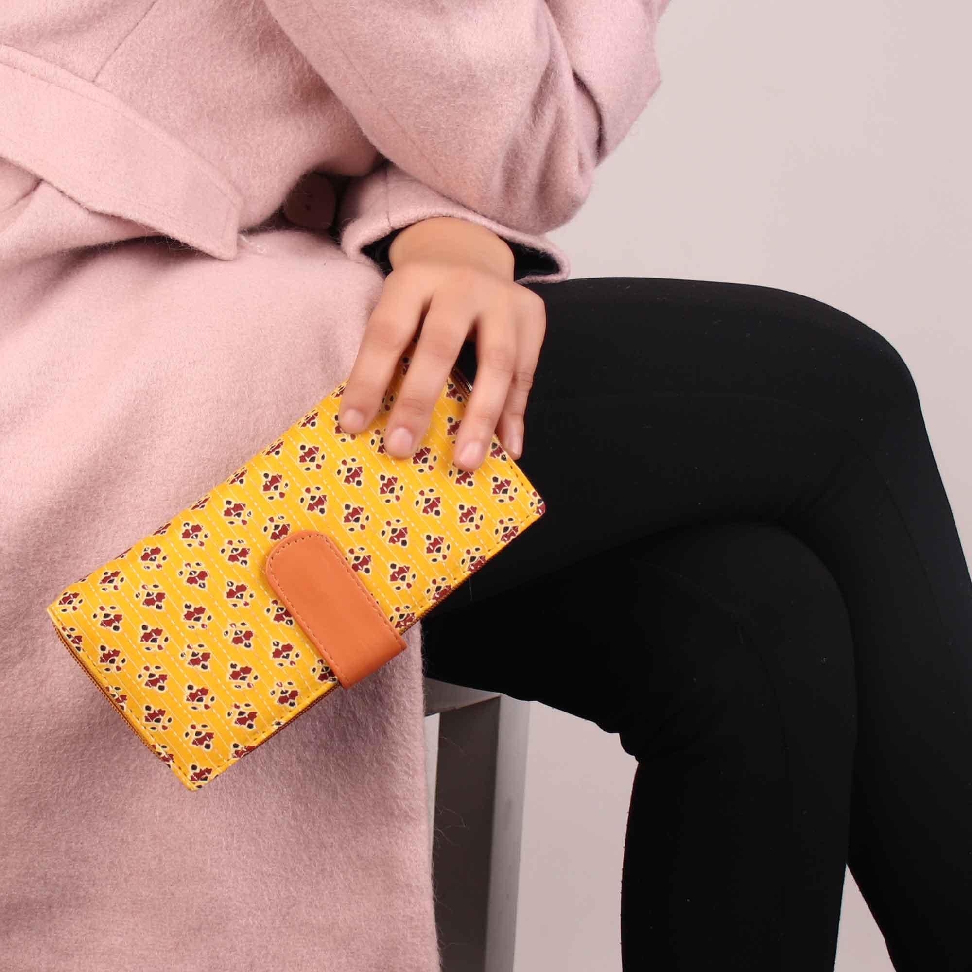 Wallet,The Yellow Sunshine Wallet - Cippele Multi Store