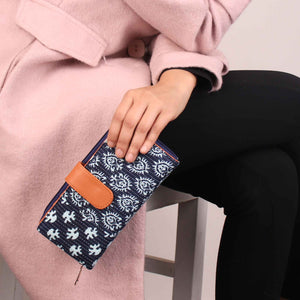 Wallet,The Glorious Indigo Mixed Wallet - Cippele Multi Store
