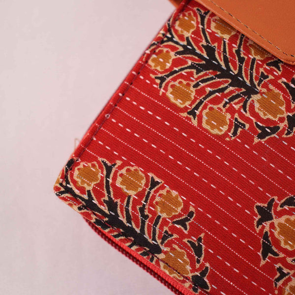 Wallet,The Bold Red Golden Leaf Wallet - Cippele Multi Store
