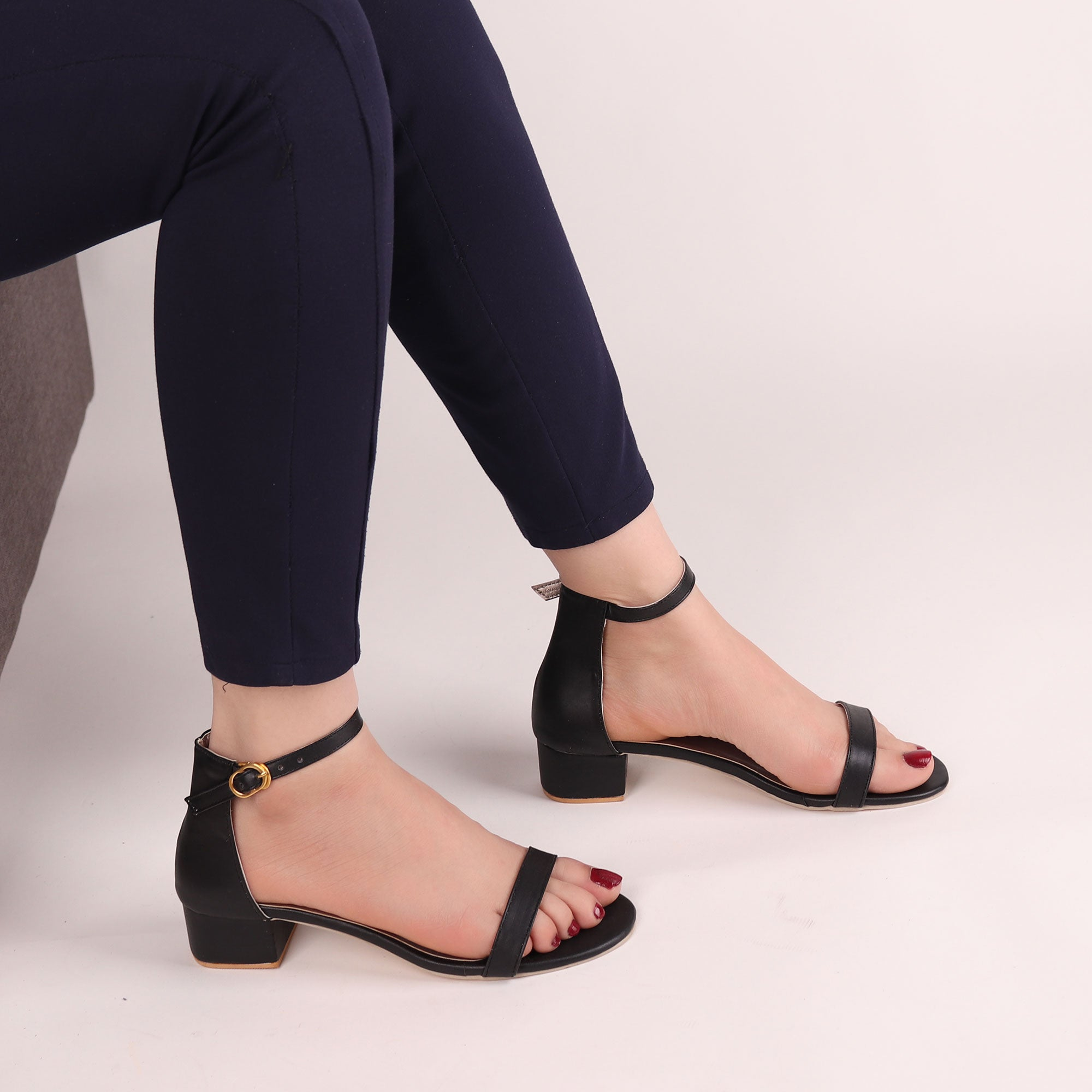 Foot Wear,It's Just the Right Block Heel in Black - Cippele Multi Store