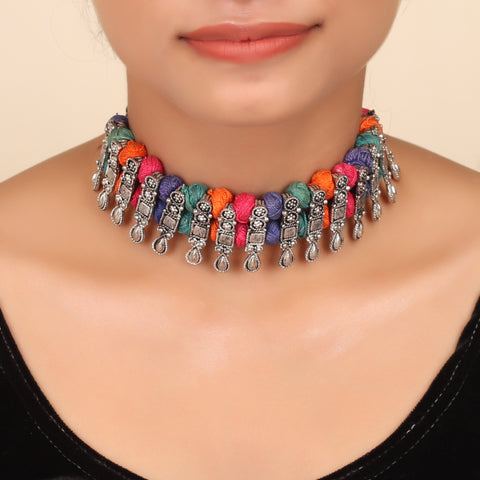 The Contemporary Metallic Weave Choker