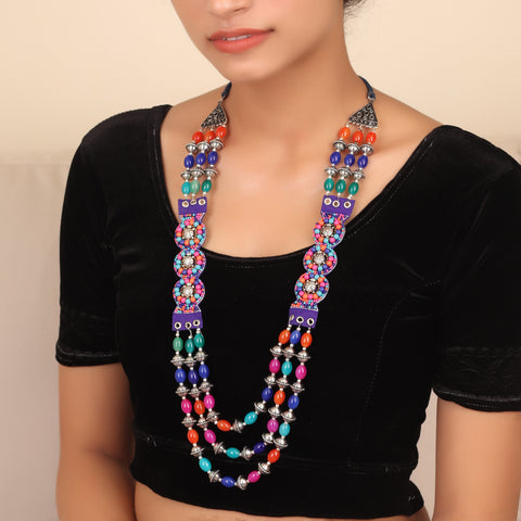 Intriguing Bohemian Necklace in Multicolor