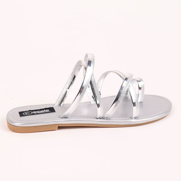 The Chirpy Crisscross Flats in Silver