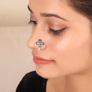 The Butterfly Nose Pin in Dark Blue