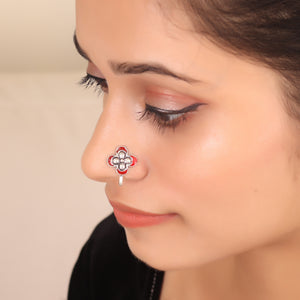 The Butterfly Nose Pin in Red