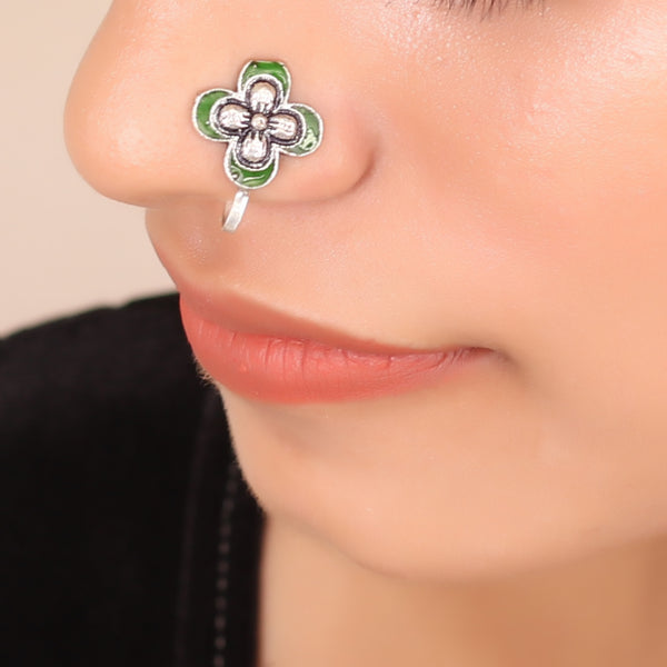 The Butterfly Nose Pin in Green