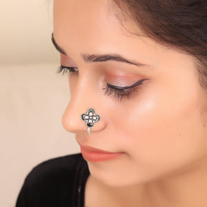 The Butterfly Nose Pin in Black