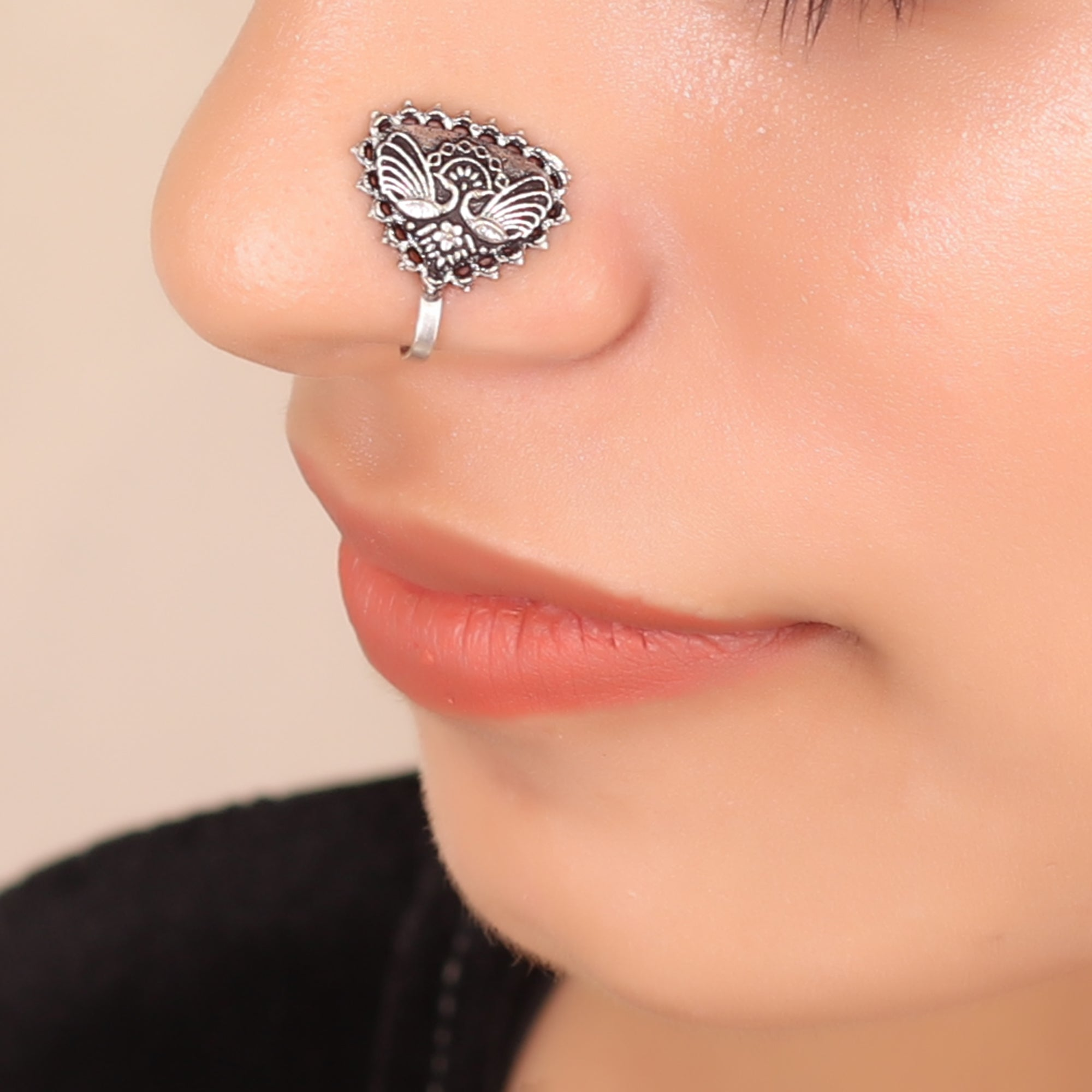 The Winged Triangle Nose Pin