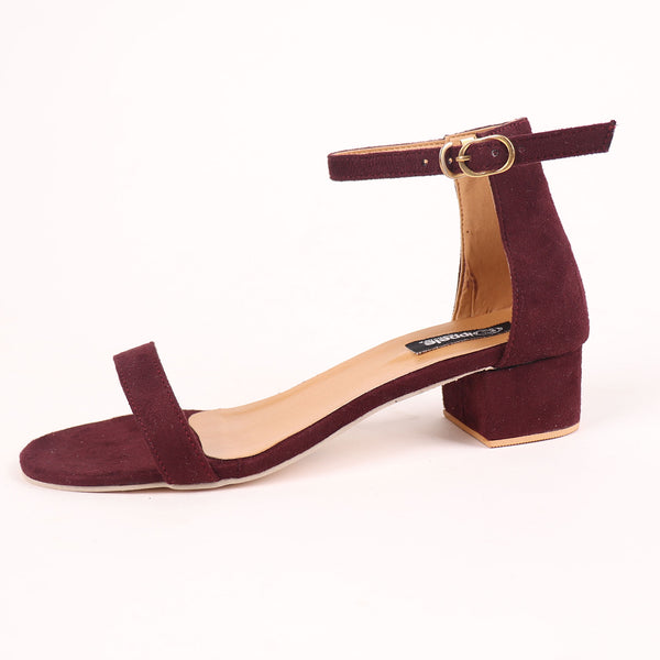 Foot Wear,It's Just the Right Block Heel in Wine Suede - Cippele Multi Store