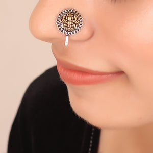 The Ganpati Nose Pin