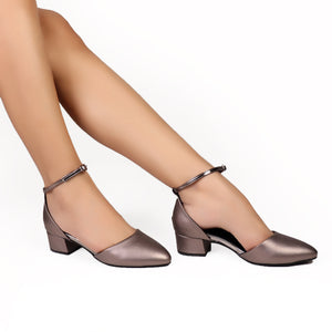 Foot Wear,Gun Metal Block Heels - Cippele Multi Store